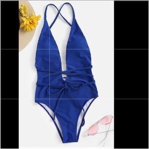 Other - Royal blue one piece strappy bathing suit